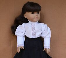 Doll Blouse fitting 18 in & American Girls White Victorian Style Gibson Blouse
