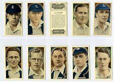 Full Set, Ardath, Cricket, Tennis & Golf Celebrities Grey 1935 VG-EX (Gy029-444)