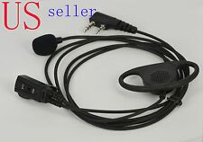 D-Shape Earpiece/Headset Boom Mic VOX/PTT Baofeng Radio UV-5R UV-3R + PLUS