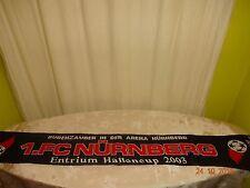 """1.FC Nürnberg Fan Schal """"BUDENZAUBER IN DER ARENA Entrium Hallencup 2003"""""""