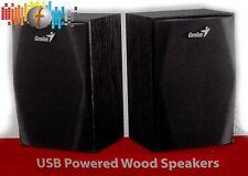 PC Lautsprecher aus Holz Genius SP-HF160 schw. USB 2.0 System Speaker Aktivboxen