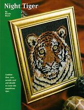 NIGHT TIGER PICTURE PLASTIC CANVAS PATTERN INSTRUCTIONS ONLY FROM A MAGAZINE