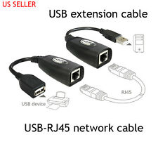 USB TO RJ45 NETWORK ETHERNET CABLE ADAPTOR EXTENDER OVER CAT5 5E 6 TO 100FT USB