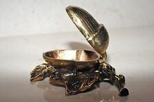 Brass ashtray,acorn,antique design,rare,very detailed item,collectable