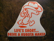 KUBOTA naked decal MOWER tractor pull pulling STICKER trailer parts