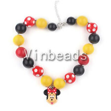 Necklace For Mouse Head Chunky Bracelet Beads Bubblegum Gumball Jewlery 12