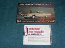 1967 OLDSMOBILE BIG CAR MODELS OWNER'S MANUAL / OWNER'S GUIDE & OPP BOOK / ORIG!