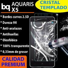 CRISTAL TEMPLADO PROTECTOR DE PANTALLA 0.3MM PARA BQ AQUARIS X5 VIDRIO 9H 2.5D