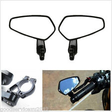 """2 X New 7/8"""" 22mm Motorcycles Left Right Handbars Bar End Side Rearview Mirrors"""