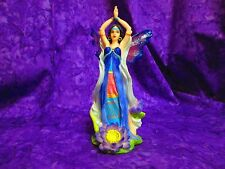 "MYSTICAL LOTUS FAIRY FIGURINE STATUE COLLECTIBLE 7.5"" TALL"