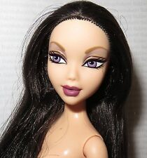 (C) NUDE BARBIE (C)~ MY SCENE LARGE HEAD NOLEE RAVEN PURPLE EYES DOLL FOR OOAK