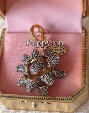 BRAND NEW! JUICY COUTURE PAVE BOW BRACELET CHARM IN TAGGED BOX