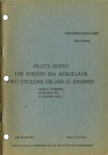 PILOT'S NOTES: BOSTON IIIA, TWIN US LIGHT BOMBER 92pps +FREE 2-10 PAGE INFO PACK