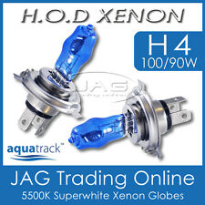 12V HOD XENON H4 100/90W 5500K SUPERWHITE HEADLIGHT CAR/AUTO WHITE GLOBES/BULBS