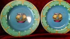 Essex Collection katmandu circus theme set of 2 canape plates