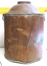 "COPPER STILL Vtg Antique Prohibition Tank Boiler Moonshine Whiskey 18"" tall SALE"