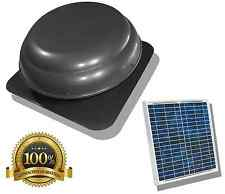 Air Vent Solar Power Attic Fan Roof-Mounted 1000 CFM Instructions Quiet New