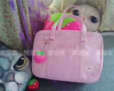 Kawaii Pink JK Uniform Strawberry Girls School Bag Briefcase Cosplay Lolita Gift