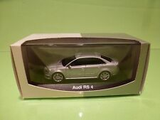 MINICHAMPS AUDI RS 4 - SILVER GREY 1:43 - NEAR MINT IN BOX