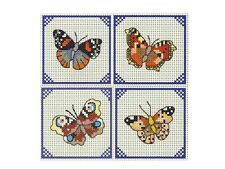 NEW ITA CROSS STITCH FOUR COASTER KIT - More Butterflies #8
