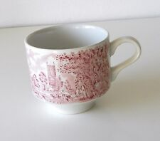 Vintage Red & White Toile Transferware Coffee/Tea Cup By Broadhurst Co. England