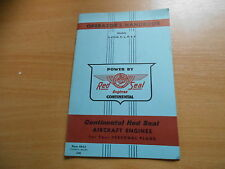 Operator`s handbook Continental Red Seal aircraft engines O-470-G K L M R