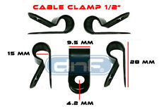 "(100 PACK) NYLON CABLE CLAMP 1/2""  BLACK - SHIPS FREE TODAY!"