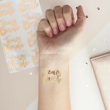 16 x Rose Gold Team Bride Temporary Tattoos - Team Bride - Hen - Bridal shower