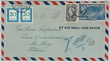 62270 -  SURINAME - POSTAL HISTORY -  COVER to HOLLAND 1947 - Taxed on ARRIVAL