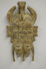 Senufo African Cote d'Ivorie Wedding Marrige Wood Twin Mask
