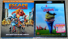 Kid Animated Blu-ray 3D Lot - Escape from Planet Earth (Used) Gnomeo & Juliet 3D