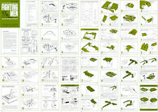Fighting Men instruction sheets for a Mattel Thingmaker
