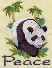 PANDA BEAR PEACE SET OF 2 BATH HAND TOWELS EMBROIDERED BY LAURA