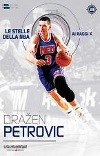 LIBRO BOOK N°39 DRAZEN PETROVIC LE STELLE DELLA NBA AI RAGGI X NETS