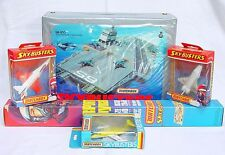 Matchbox SKYBUSTERS LEAR JET F-16 SPACE SHUTTLE + AIRCRAFT CARRIER Case MIB`76!