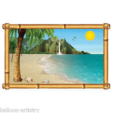 Tropical Luau Window Scene Setter Add-on Prop - BEACH WINDOW BA