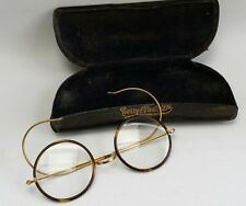 Vtg Tortoiseshell & Gold 1/10 12ct Spectacles Reading Glasses Case Curry Paxton