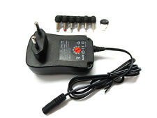 EU DC POWER ADAPTOR/SUPPLY 1000MA/1A/1 AMP 3V/4.5V/5V/6V/7.5V/9V/12V (REGULATED)