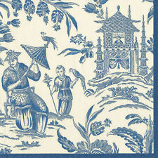Blue Silk road toile Caspari new luxury paper table napkins 20 in pack