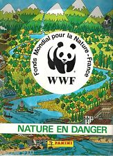 ALBUM PANINI ¤ WWF NATURE EN DANGER ¤ INCOMPLET avec 145 VIGNETTES COLLEES