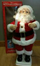 "Vintage Telco Motion-ette Santa Claus Animated Christmas Motionette 24"" Xmas"