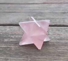 NATURAL ROSE QUARTZ GEMSTONE MERKABA STAR (ONE) - BUY IT NOW