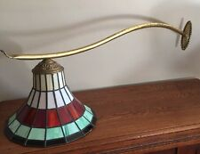 ANTIQUE LEADED STAINED GLASS LANTERN LAMP ~ Wall Light ~ Unusual