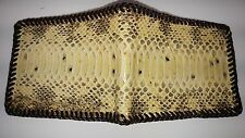 Real Boa belly Snake Skin python Handmade laced wallet with removable ID case