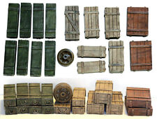1/35 Scale resin kit Wooden Crates Set #5 Military model