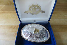 Montana Silversmith's sterling silver plate rodeo ranch western belt buckle
