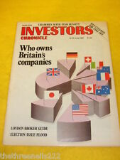 INVESTORS CHRONICLE - WHO OWNS BRITAIN'S COMPANIES - JUNE 19 1987