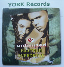 "2 UNLIMITED - Maximum Overdrive - Excellent Condition 7"" Single PWL 276"