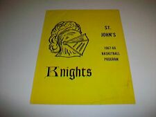 1967-68 St. John's Knights High School Seminary Basketball Program