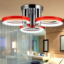 Fashion LED Ring Chandelier 3 Lamps 18W Pendant Ceiling Lighting Flush Mount Red